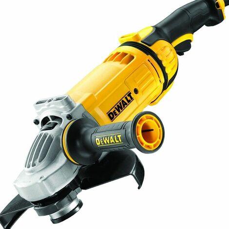 DEWALT DWE4579-QS - Amoladora de potencia 230 mm 2600W boton rearranque y embrague arranque suave