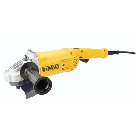 DEWALT DWE496-QS - Amoladora 230mm 2.600W 6.500 rpm Arranque Suave + Bloqueo y re-arranque