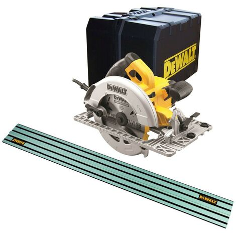 DeWalt DWE576K 110v Precision Circular Saw 190mm 1600w + 1.5m Guide Rail DWS5022
