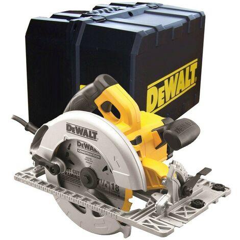 "main image of ""DeWalt DWE576K 110v Precision Circular Saw 190mm 1600w + Track Plung Rail Base"""