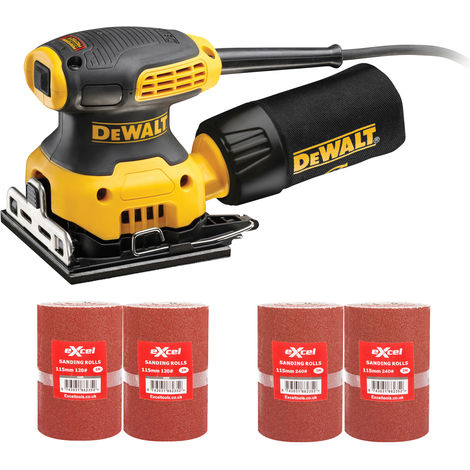 DeWalt DWE6411L 110v 115mm Orbital Palm Sander with 2 x 2 Sanding Rolls