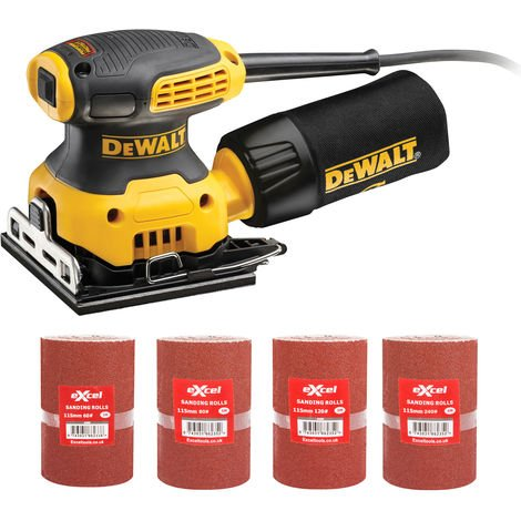 DeWalt DWE6411L 110v 115mm Orbital Palm Sander with 4 x Sanding Rolls