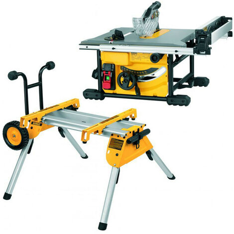 DeWalt DWE7485 210mm Compact Table Saw 1850W 240V & DE7400 Saw Stand