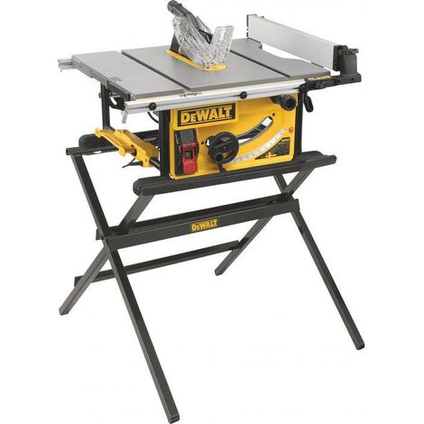 DeWALT DWE7492 250mm Table Saw 110v With DWE74912 Scissor Leg Stand