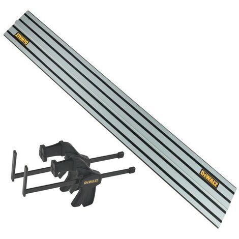 DeWalt DWS5022 1.5m Guide Rail for DWS520 Plunge Saws + Pair of Clamps DWS5026