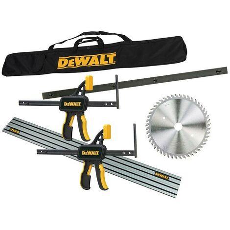 Dewalt DWS520KR Plunge Saw Kit 2x Guide Rail + Blade + Bag + Clamps + Connectors