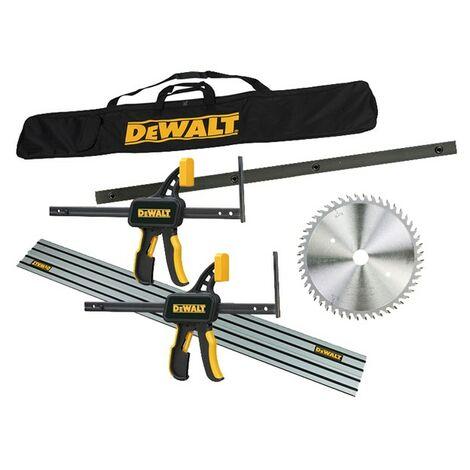 Dewalt DWS520KR Plunge Saw Kit - Guide Rail + Blade + Bag + Clamps + Connectors