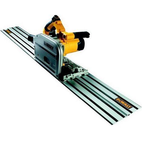DEWALT DWS520KR-QS Sierra de incision 1.300W-55 mm prof.-165 mm 1.5m rail guia maletin