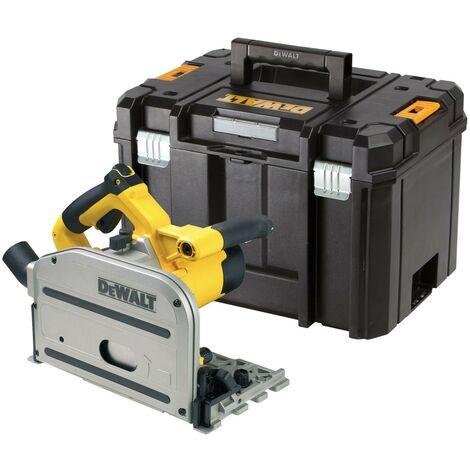 "main image of ""Dewalt DWS520KT Plunge Cut Circular Saw 165mm 110v DWS520K + TSTAK Hard Case"""