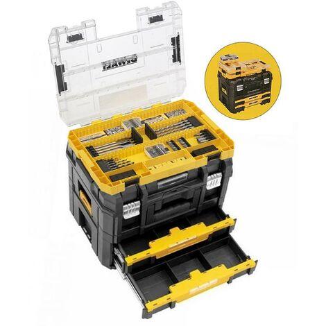 Dewalt DWST1-70702 TStak Combo II + IV Tool Storage Box 2 Drawers + 85 Piece Set