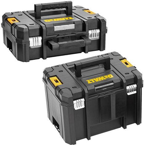 Dewalt DWST1-70703 TStak II Carry Case with DWST1-71195 TSTAK VI Deep Tool Box