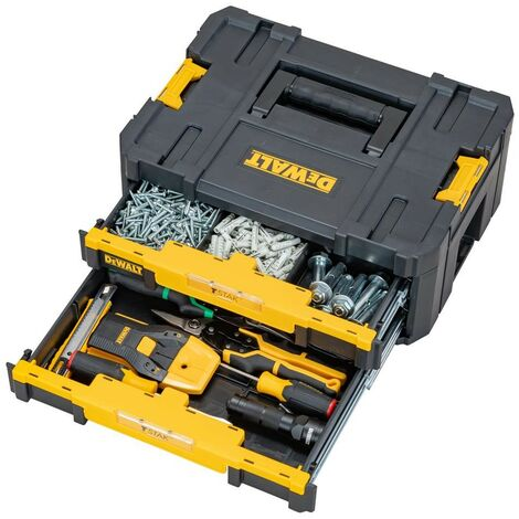Dewalt DWST1-70706 TStak IV Tool Storage Box with 2 Shallow Drawers 8L Capacity