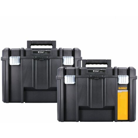 Dewalt DWST1-71195 T-Stak VI Deep Tool Storage Box 23 Litres Twin Pack Without Tote Tray