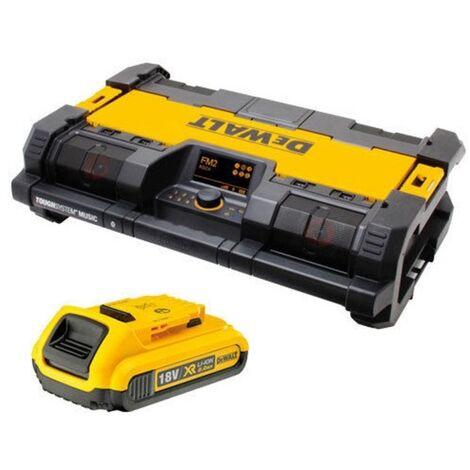 Dewalt DWST1-75663 18v ToughSystem DAB Radio with x1 DCB183 Battery