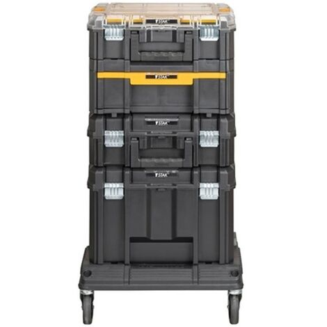 Dewalt DWST1-81048 TStak Tower Rolling Mobile Tool Storage Boxes – Includes 4 TStack Cases