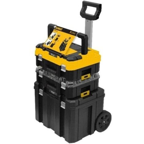 Dewalt DWST1-81049 TStak Tower Rolling Mobile Tool Storage Boxes – Includes 2 TStack Cases