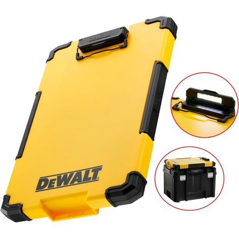 Dewalt DWST82732-1 TSTAK Clipboard Organiser LED Light Internal Pouch Metal Clip