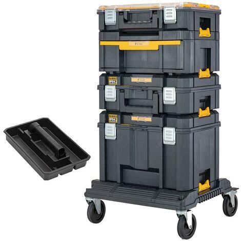 Dewalt DWST83412-1 Tstak 2.0 Tower - Includes 4 Cases with Wheeled Cart Trolley