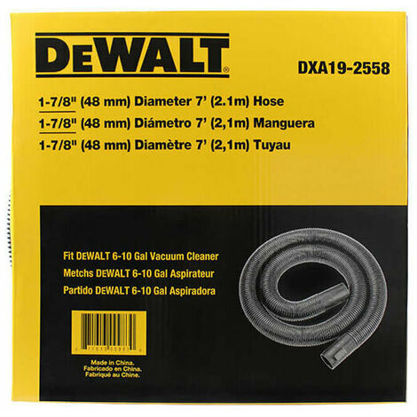 DeWalt DXVA19-2558 Hose 48mm x 2.1m for 08002, 08003, 08004