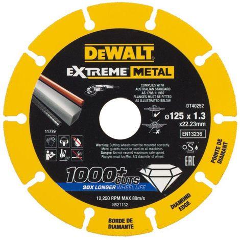 DEWALT EXTREME DIAMOND DISC 125 X 22.23 X 1.3MM DT40252