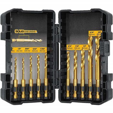 DeWalt Extreme DT50050 10 Piece Impact Ready Titanium Drill Bit Set DT50050-QZ