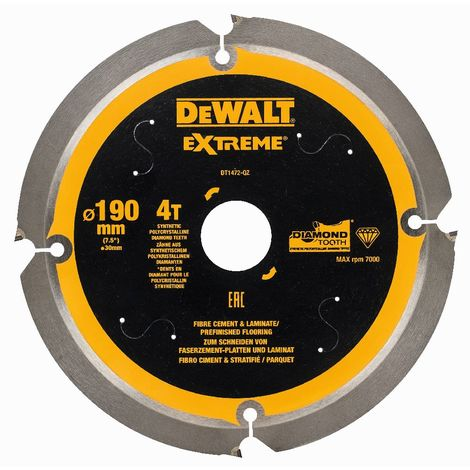 DeWALT Faserzement-Sägeblatt 190x30 mm 4Z - DT1472-QZ