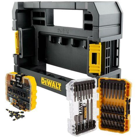 Dewalt FLEXTORQ 65 Piece Impact Screwdriver Bit Set + Tough Case TStak Caddy