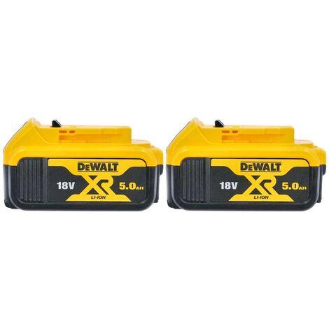 DeWalt Genuine DCB184 18V XR 5.0Ah Lithium-Ion Battery Twin Pack