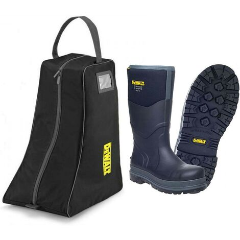 DeWalt Hobart Wellington Boot S5 Safety Steel Toe Insulated -20C Size 8 with Bag