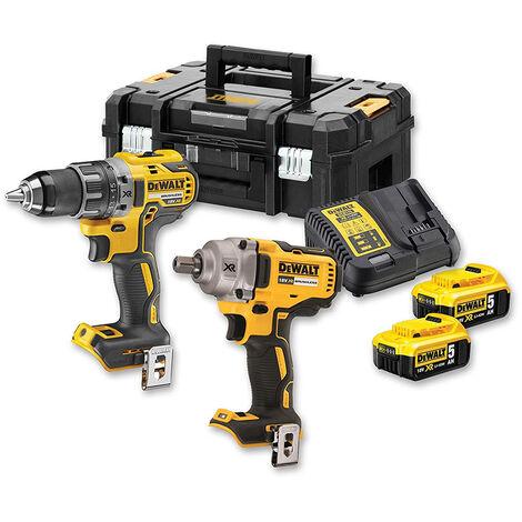 DeWALT Kit 2 outils à batterie, 18V - DCK2077P2T-QW