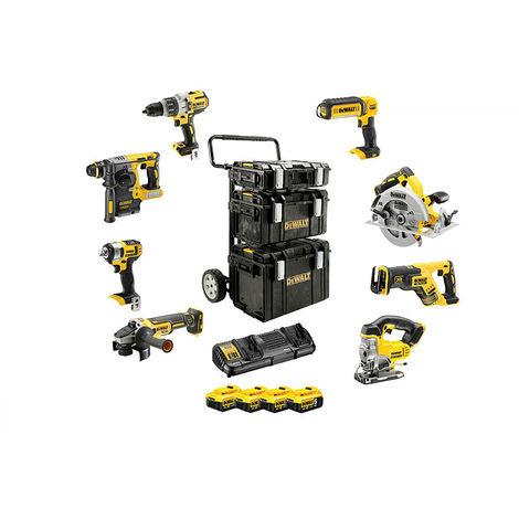 DeWALT Kit 8 outils, 18,0 V / 5 Ah - DCK854P4-QW