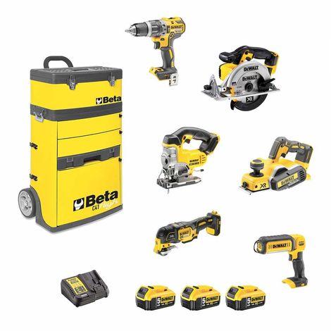 DeWALT Kit BCK667P3 (DCD796 + DCS391 + DCS331 + DCP580 + DCS355 + DCL050 + 3 x 5,0Ah + DCB115 + Trolley BETA C41H)