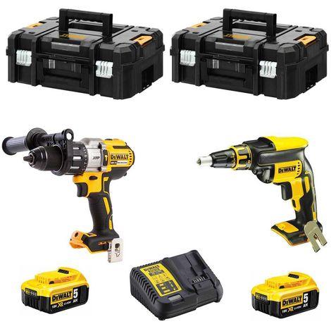 DeWALT Kit CPROF296 (DCD996 DCF620 2 x 5,0 Ah DCB115 2 x TSTAK II)