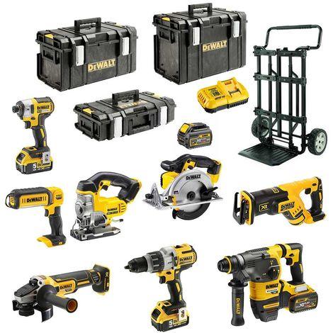 DeWALT Kit DCK-FR833MP4DS-CADDYB (DCD996 + DCG405 + DCH333 + DCS367 + DCS391 + DCS331 + DCL050 + DCF887 + 2 x 5,0 Ah)