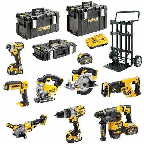 DeWALT Kit DCK-FR834MP4 54V/18V (DCD996+DCG414+DCH333+DCS387+DCS391+ DCS331+DCL040+DCF887+2x5,0Ah+2x6,0Ah+DCB118+CADDY)