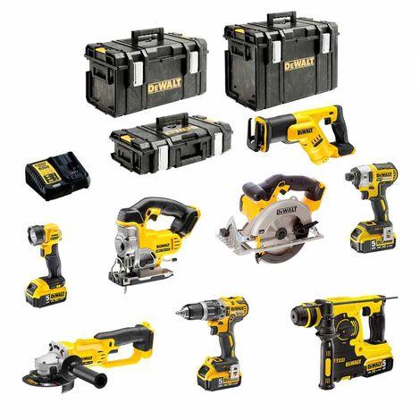 DeWALT Kit DCK XP8BMP4 (DCD796 + DCG412 + DCL040 + DCS331 + DCS391 + DCS387 + DCF887 + DCH253 + 4 x 5,0 Ah + DCB115)