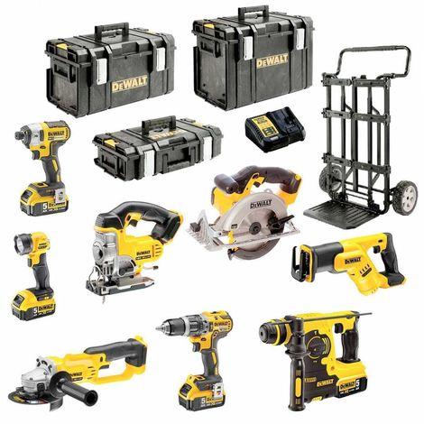 DeWALT Kit DCK XP8MP4 (DCD796 + DCG412 + DCL040 + DCS331 + DCS391 + DCS387 + DCF887 + DCH253 + 4 x 5,0 Ah + DCB115)