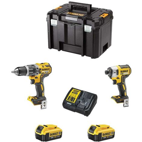 DeWALT Kit DCK250M2T (DCD796 + DCF887 + 2 x 4,0 Ah + DCB115 + TSTAK VI)