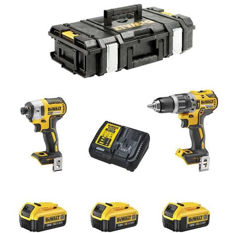 DeWALT Kit DCK250M3 (DCD796 + DCF887 + 3 x 4,0 Ah + DCB115 + DS150)