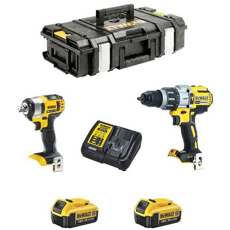 DeWALT Kit DCK254M2-QW (DCD996 + DCF880 + 2 x 4,0 Ah + DCB115 + DS150)
