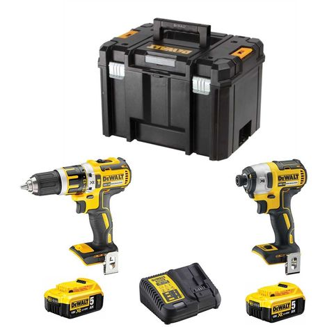 DeWALT Kit DCK255P2T (DCD996 + DCF887 + 2 x 5,0 Ah + DCB115 + TSTAK VI)
