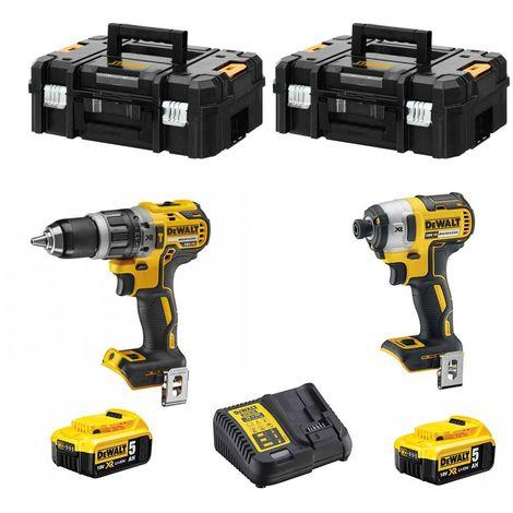 DeWALT Kit DCK259P2T (DCD796 + DCF887 + 2 x 5,0 Ah + DCB115 + 2 x TSTAK II)