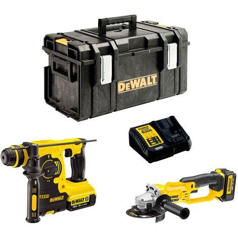 DeWALT Kit DCK271M2 (DCH253 + DCG412 + 2 x 4,0 Ah + DCB115 + DS300)