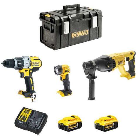 DeWALT Kit DCK288P2DS-33 (DCH133 + DCD996 + DCL040 + 2 x 5,0 Ah + DCB115 + DS300)