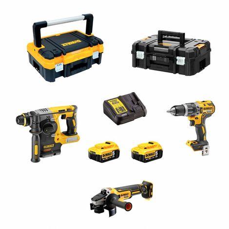 DeWALT Kit DCK306P2T (DCH273 + DCD796 + DCG405 + 2 x 5,0Ah + DCB115 + TSTAK I + TSTAK II)