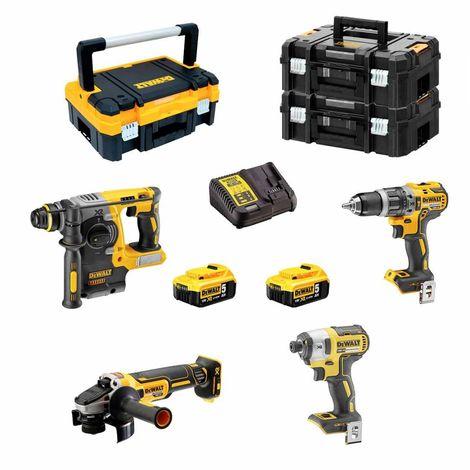 DeWALT Kit DCK406P2T (DCH273 + DCD796 + DCG405 + DCF887 + 2 x 5,0Ah + DCB115 + TSTAK I + 2 x TSTAK II)