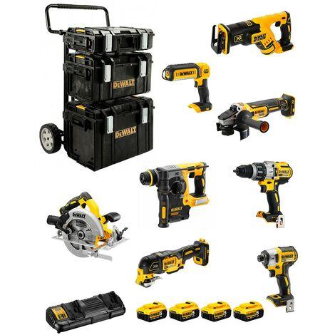 DeWALT Kit DCK853P4 (DCD996DCF887DCS570DCS367DCS355DCH273DCG405DCL0504 x 5,0AhDCB132DS150+DS300+DS400+caddy)