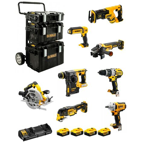 DeWALT Kit DCK856P4 (DCD996DCF894DCH273DCG405DCS367DCS355DCS570DCL0504 x 5,0AhDCB132DS150+DS300+DS400+caddy)