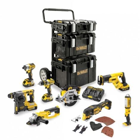 DCD996 + DCG414 + DCH333 + DCS387 + DCS391 + DCS331 + DCL040 + DCF887 + 2 x 5,0 Ah 18V + 2 x 6,0 Ah 54V//18V + DCB118 + DS150 + DS300 + DS400 + Caddy DEWALT Kit DCK-FR834MP4 54V//18V
