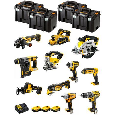 DeWALT Kit DWK1100T (DCD796+DCH273+DCG405+DCF887+DCF894+DCS331+DCS391+ DCS355+DCP580+DCS369+DCL050+ 3x5,0Ah + DCB115+4xTSTAK VI)